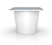 Yoghurt cup. One yogurt cup with blank space for general purpose (3d render Stock Photo