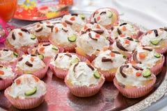 Yoghurt cup cakes Stock Photo