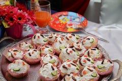Yoghurt cup cakes Royalty Free Stock Photos