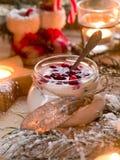 Yoghurt dessert Royalty Free Stock Photos