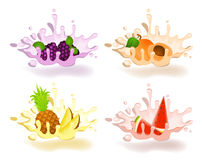 Yoghurt with fresh fruit Stock Photography