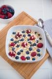 Yoghurt with fresh fruits Stock Photos