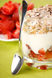 Yoghurt with granola Royalty Free Stock Photography