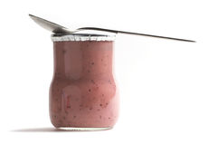 Yoghurt jar Royalty Free Stock Photos
