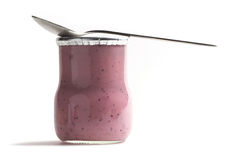 Yoghurt jar Stock Photos