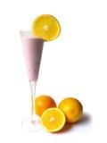 Yoghurt in lang glas Royalty-vrije Stock Fotografie