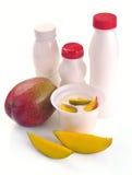 Yoghurt with mango Stock Photography