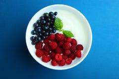 Yoghurt med bär arkivbilder