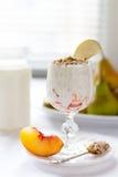 Yoghurt morning Stock Images