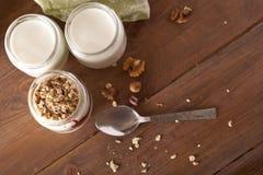 Yoghurt och granola Arkivfoto