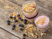 Yoghurt on the table Stock Photography