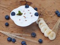 Yoghurtwhitfrukt Arkivbild
