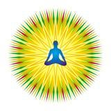 Yogi в положении лотоса  смогите конструктор каждый вектор оригиналов предмета evgeniy графиков независимый kotelevskiy иллюстрация штока