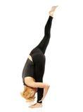 Yogi женщины в представлении йоги Стоковые Изображения