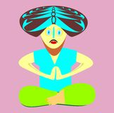 The yogi in an asana. vector illustration