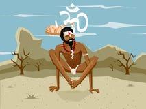 Yogi в asana Стоковое Изображение