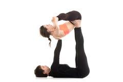 Yogi couple practice Royalty Free Stock Images