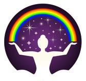 Yogi e Rainbow Immagini Stock Libere da Diritti