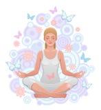 Yogi girl. On a white background Stock Image