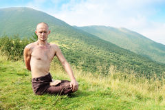 Yogi occupato immagini stock libere da diritti
