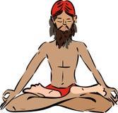 Yogi. Sitting in the lotus position Stock Photo