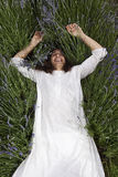 Yogi songeur image stock
