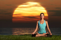 Yogi sunrise. Royalty Free Stock Photos