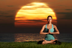 Yogi Sunrise. Royalty Free Stock Images