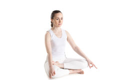 Yogi teenager girl meditating Stock Photo