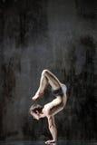 yogic övning royaltyfria foton