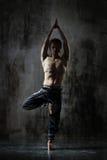 yogic övning arkivfoto