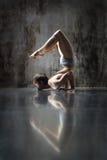 Yogic exercise Stock Images