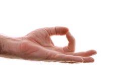 Yogic gyan hand position isolated on white Stock Image