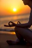 Yogic meditation Stock Images