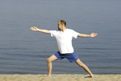 Yogin. Special photo f/x, focus point on center (face Royalty Free Stock Photography