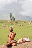 Yogin en el Himalays Fotografía de archivo libre de regalías