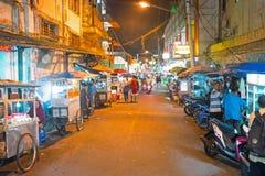 YOGJAKARTA, ИНДОНЕЗИЯ - 16-ОЕ ДЕКАБРЯ 2016: Streetview в Yogjaka Стоковое Изображение RF