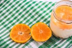 Yogur anaranjado Imagen de archivo libre de regalías
