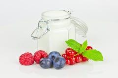 Yogur con las bayas Imagen de archivo