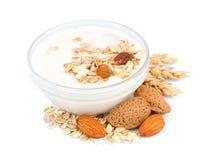 Yogur con los cereales Imágenes de archivo libres de regalías