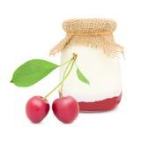 Yogur de la cereza amarga Imagen de archivo libre de regalías