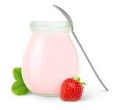 Yogur de la fresa fotos de archivo libres de regalías