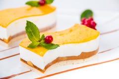 Yogur de la tarta del postre Foto de archivo libre de regalías