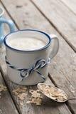 Yogur de Muesli con la harina de avena Imágenes de archivo libres de regalías
