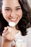 Yogur delicioso Imagen de archivo libre de regalías