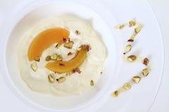 Yogur griego Imagenes de archivo