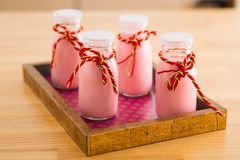 Yogur hecho en casa Fotos de archivo
