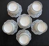 Yogur hecho en casa fresco natural de la leche de vaca hecha a mano Imágenes de archivo libres de regalías