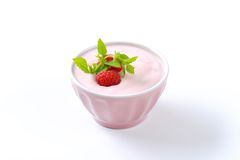Yogur ligero de la frambuesa Imágenes de archivo libres de regalías
