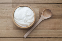 Yogur natural Imagenes de archivo